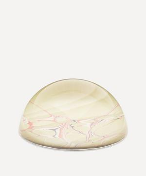 Lime Wave Marbled Paperweight Small
