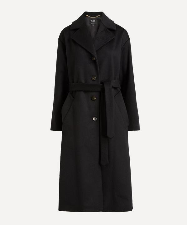 A.P.C. - Judith Belted Wool-Mix Overcoat