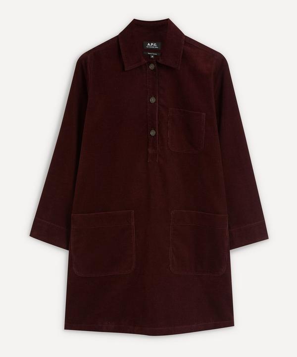 A.P.C. - Aurelia Velvet Cord Shirt-Dress
