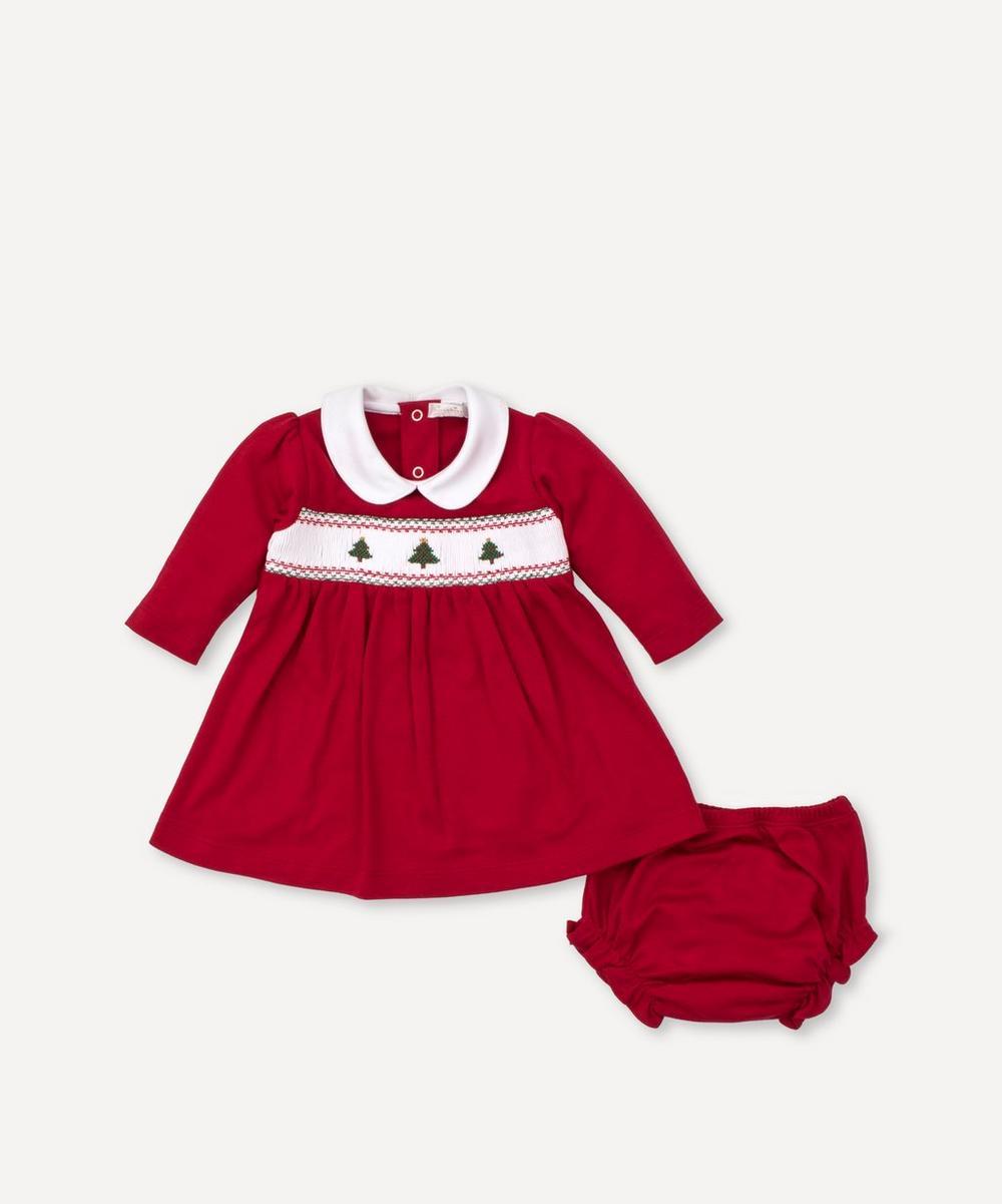 Kissy Kissy - Holiday Smocked Dress Set 0-18 Months