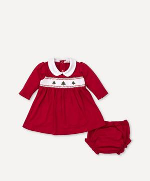 Holiday Smocked Dress Set 0-18 Months
