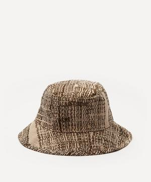 Logo Jacquard Suiting Fabric Bucket Hat