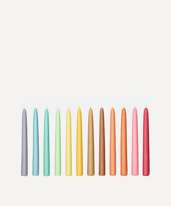 Fairholme Studio - Bright Rainbow Taper Candles Set of 12