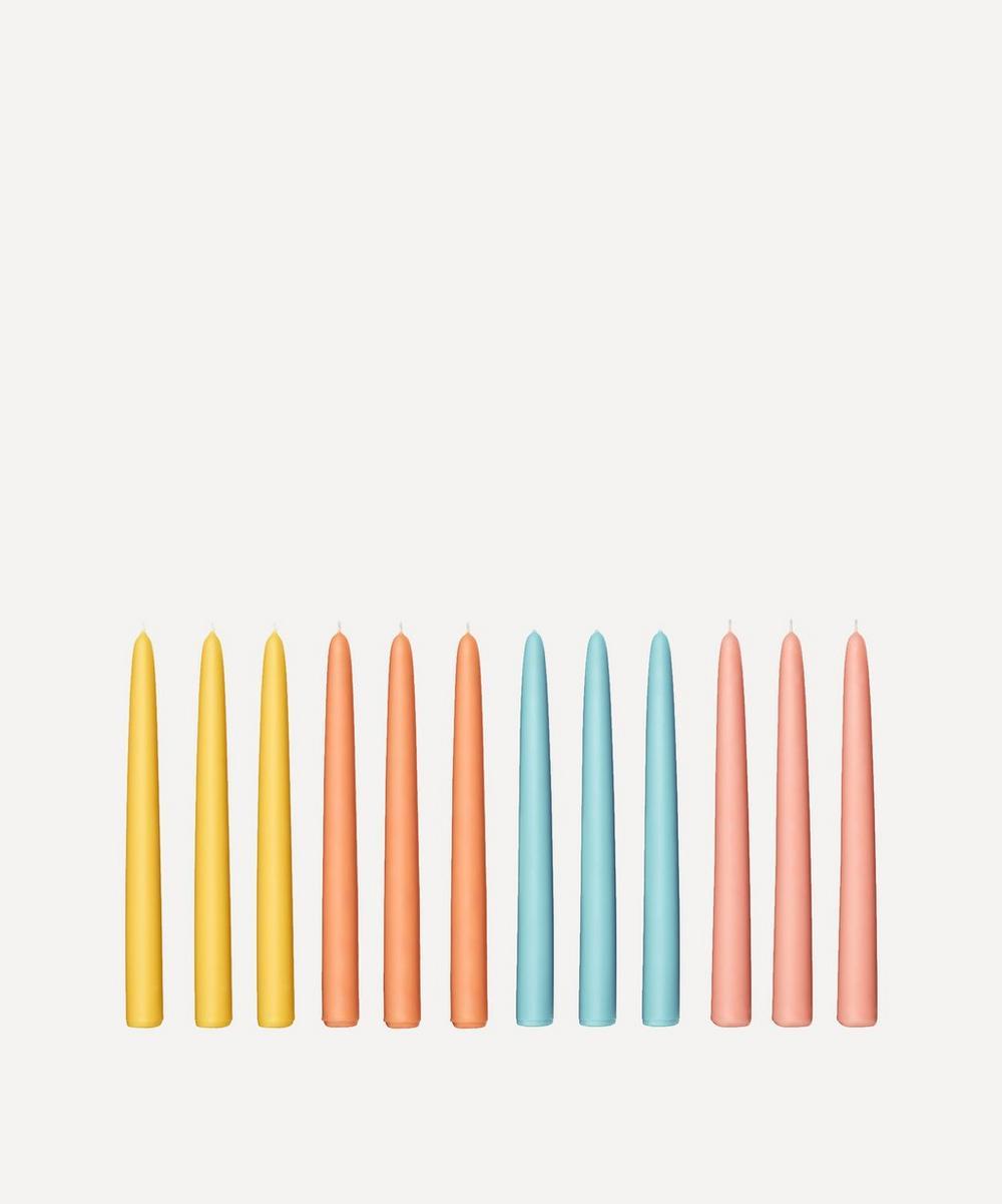 Fairholme Studio - Golden Hour Taper Candles Set of 12