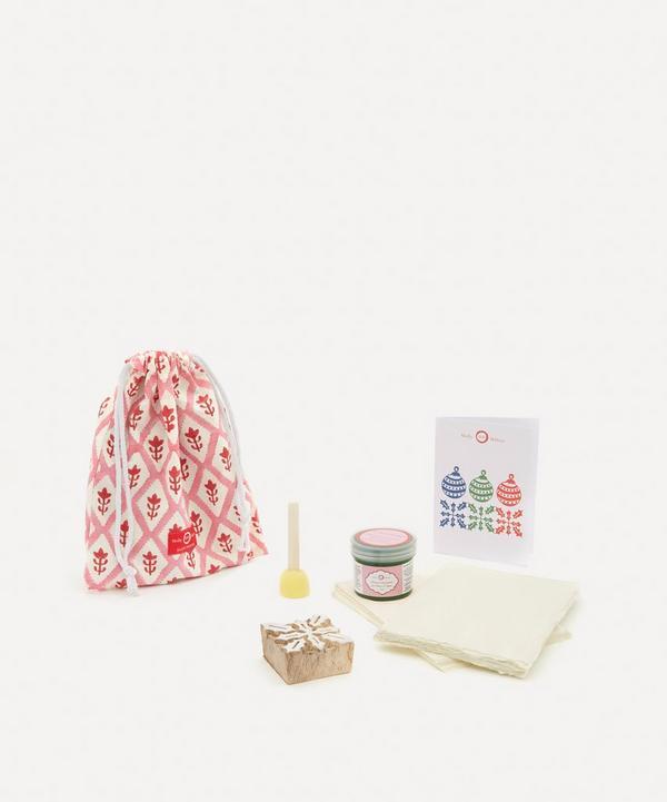 Molly Mahon - Christmas Card Block Print Kit Holly Moss