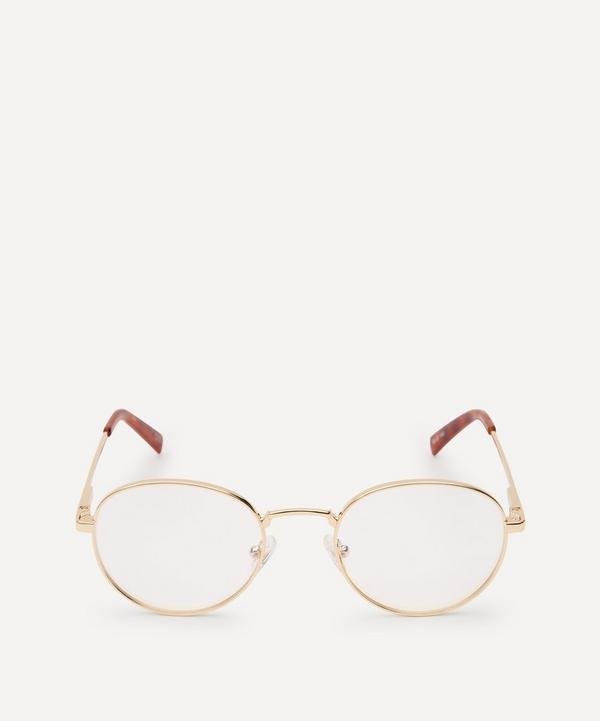 Le Specs - Lost Legacy Round Metal Blue Light Glasses