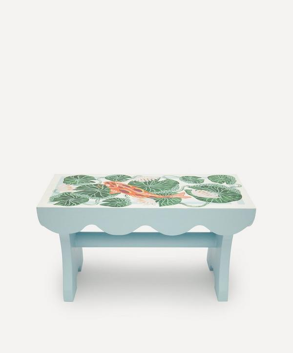 Camilla Perkins - Lily Pond Wooden Stool