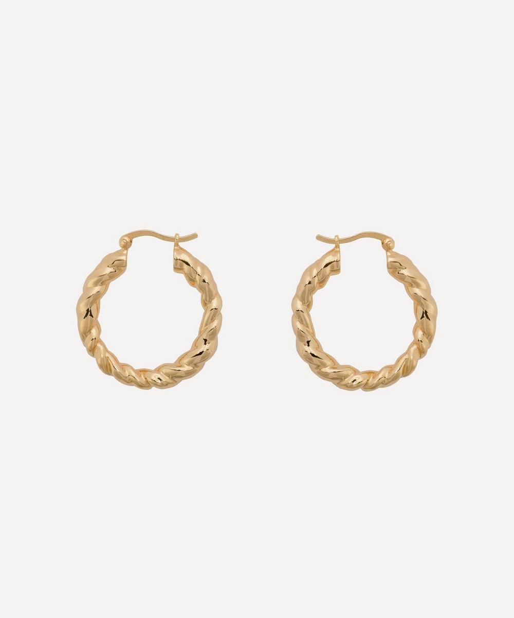 Anna + Nina - Gold-Plated Lasso Hoop Earrings