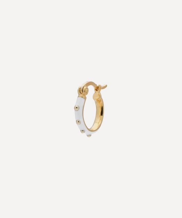Anna + Nina - Gold-Plated Dolly Enamel Single Hoop Earring