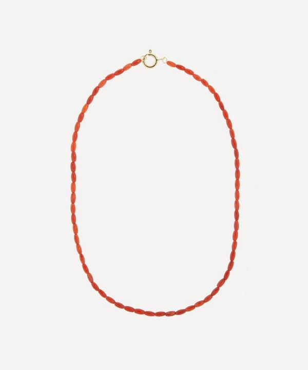 Anna + Nina - Gold-Plated Yee Haw Coral Beaded Necklace