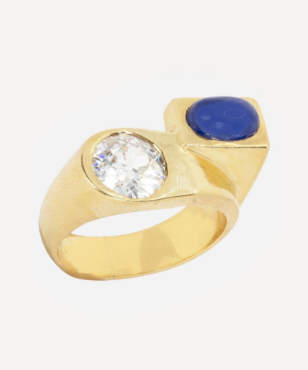 Kojis - 18ct Gold 1930s Sapphire and Diamond Ring