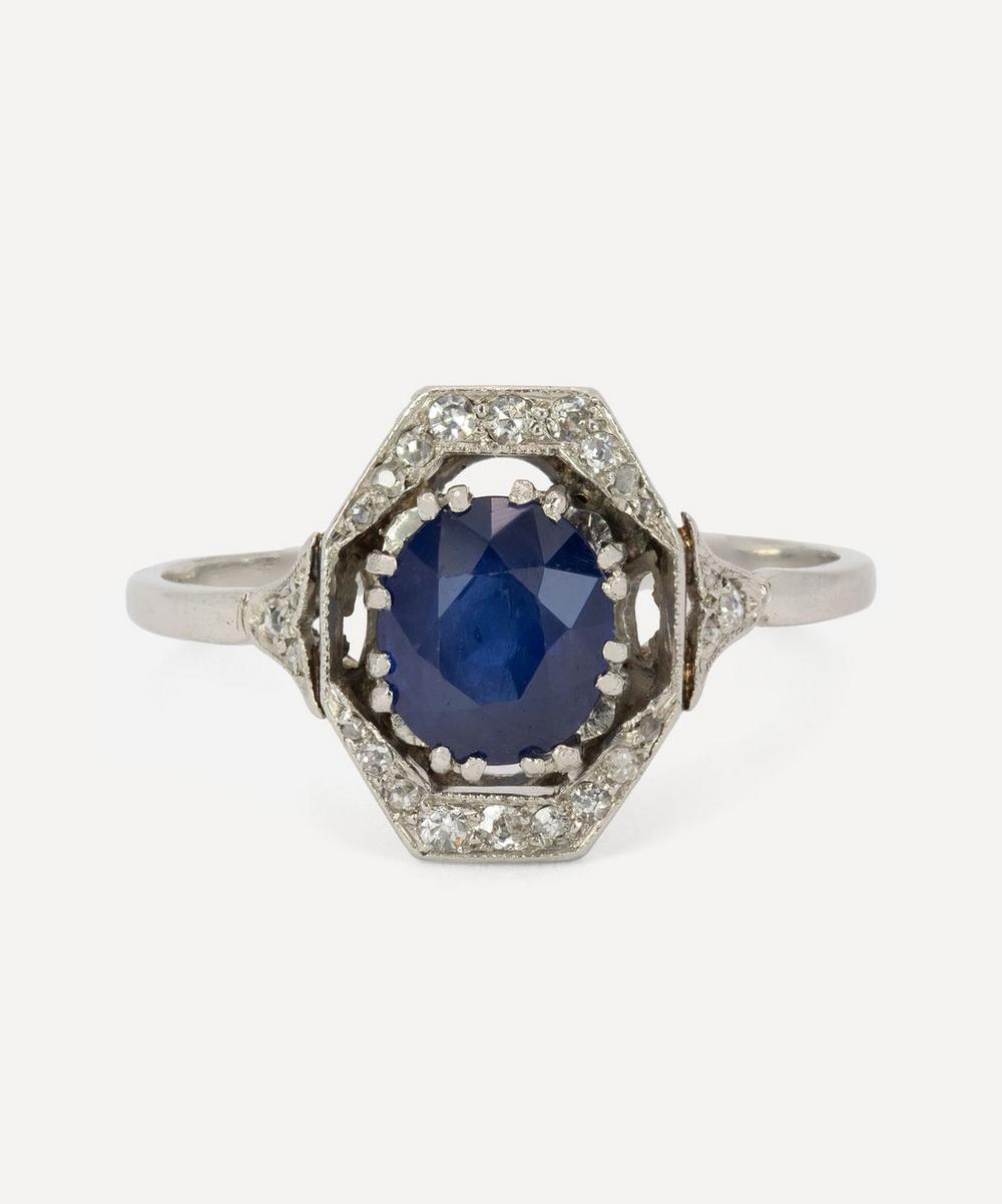 Kojis - Platinum 1900s Belle Epoch Sapphire and Diamond Ring