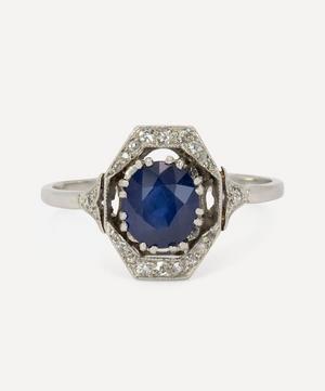 Platinum 1900s Belle Epoch Sapphire and Diamond Ring
