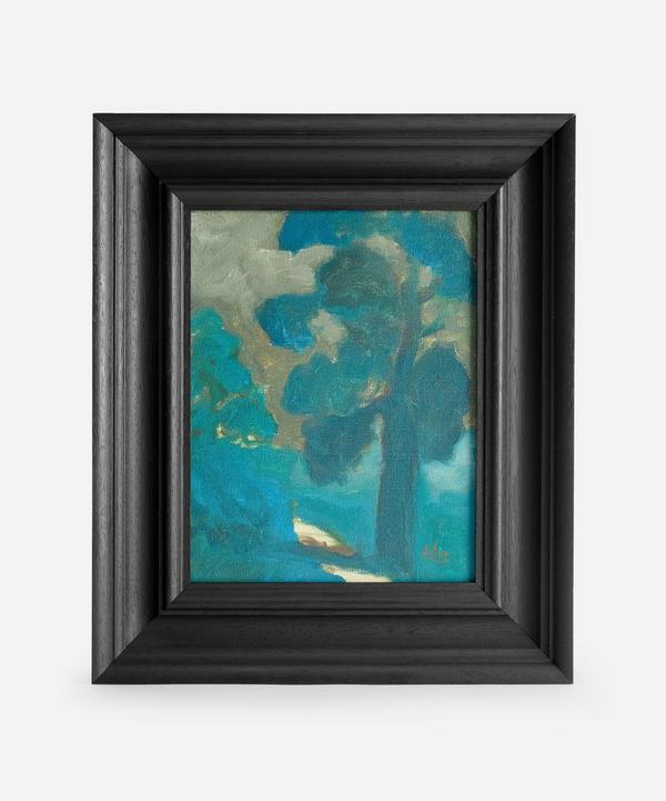 Andrew Viner - Sunlit Path Past An Oak Original Framed Painting