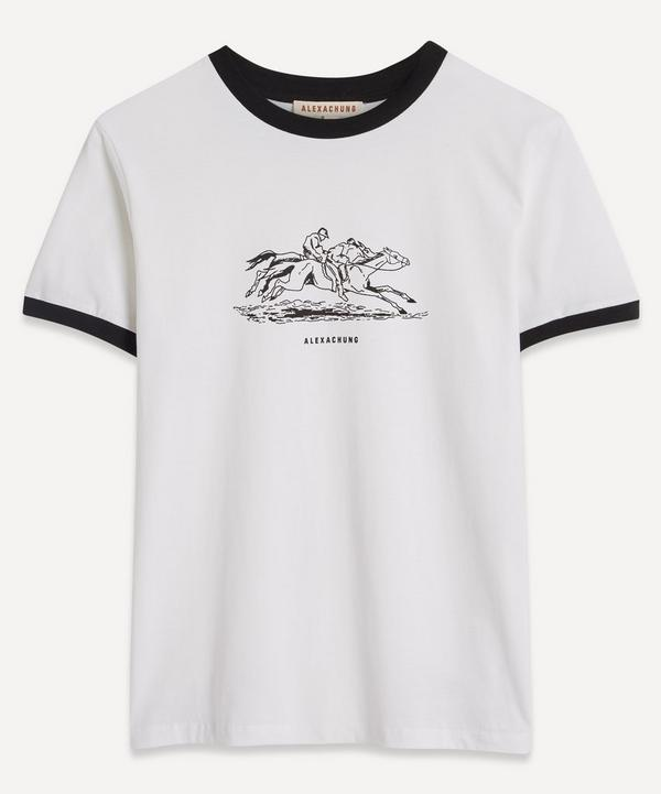 ALEXACHUNG - Giddy Up Ringer T-Shirt