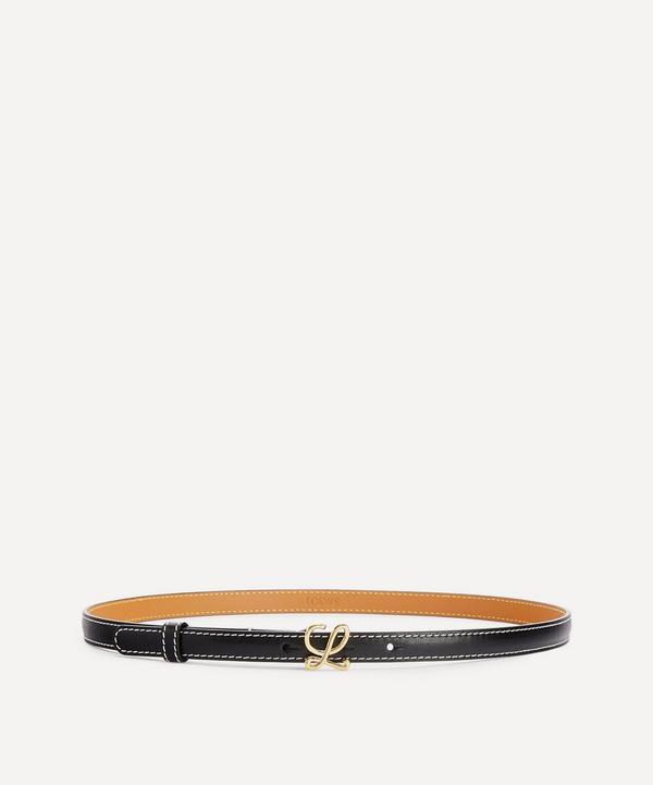 Loewe - L Monogram Buckle Leather Belt