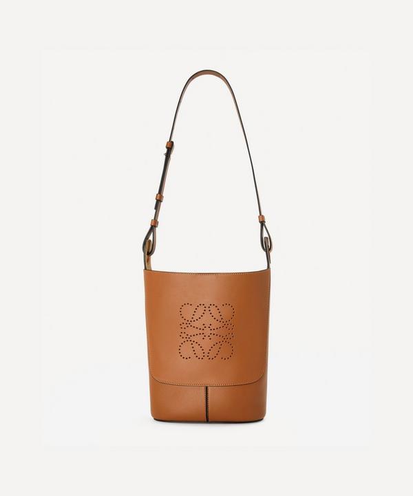 Loewe - Small Hobo Anagram Leather Bucket Bag
