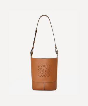 Small Hobo Anagram Leather Bucket Bag