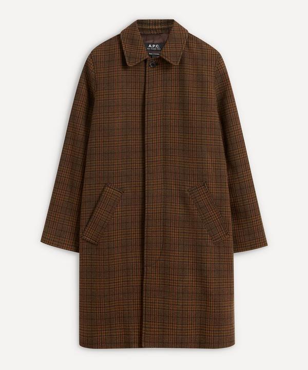 A.P.C. - Austin Check Mac Coat