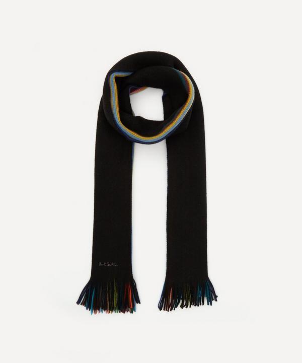 Paul Smith - Multi-Stripe Edge Wool Scarf