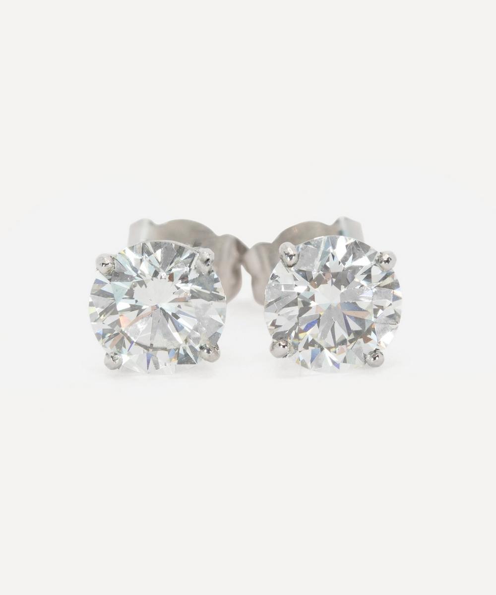 Kojis - Platinum 3ct Diamond Stud Earrings