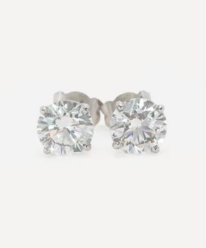 Platinum 3ct Diamond Stud Earrings
