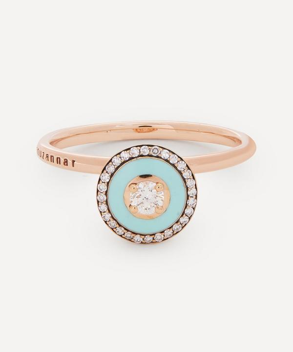 Selim Mouzannar - 18ct Rose Gold Mina Enamel Diamond Ring
