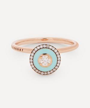 18ct Rose Gold Mina Enamel Diamond Ring