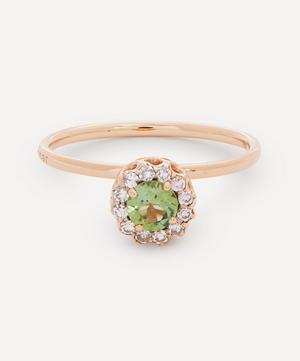 18ct Rose Gold Beirut Green Tourmaline and Diamond Ring