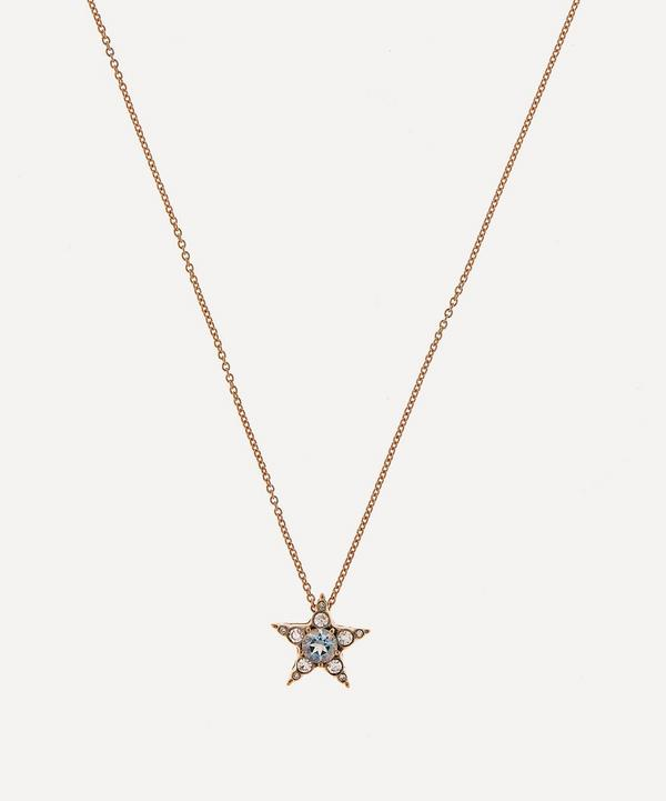 Selim Mouzannar - 18ct Rose Gold Istanbul Aquamarine and Diamond Star Pendant Necklace