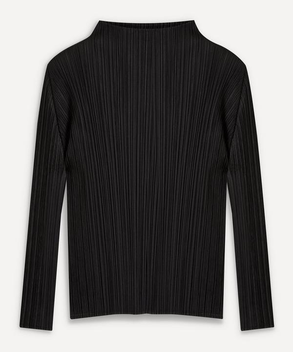 Pleats Please Issey Miyake - Basics High-Neck Long-Sleeve Top