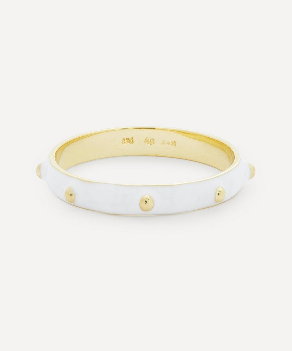 Anna + Nina - Gold-Plated Dolly Enamel Ring