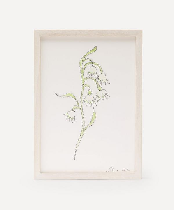 Claire Coles - Traces of Flora: Snow Drop Framed Embroidery