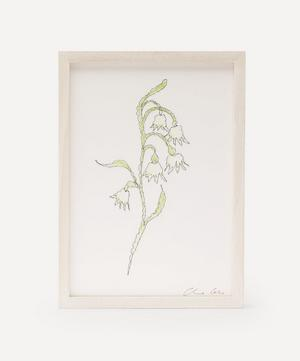 Traces of Flora: Snow Drop Framed Embroidery