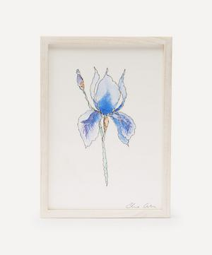 Traces of Flora: Blue Iris Framed Embroidery