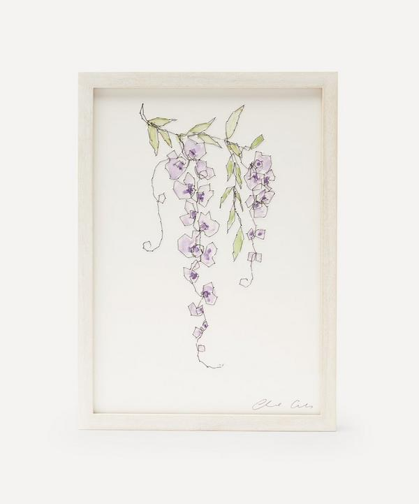 Claire Coles - Traces of Flora: Wisteria Framed Embroidery