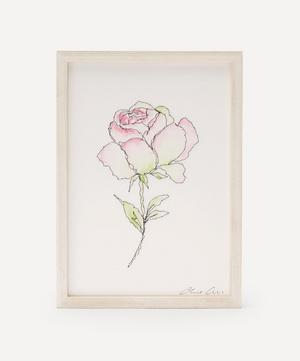 Traces of Flora: Blush Rose Framed Embroidery