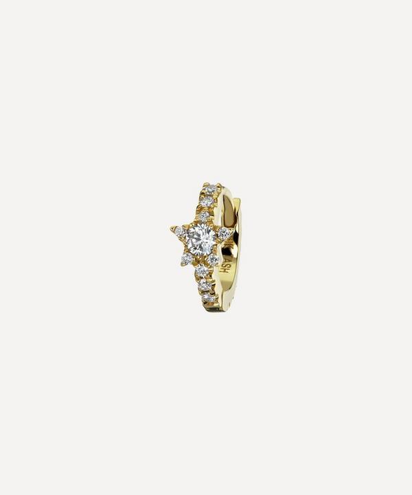 Maria Tash - 6.5mm Diamond Star Eternity Hoop Earring