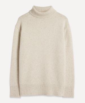 Tweed Knit High-Neck Jumper