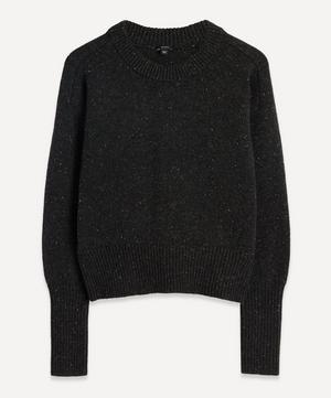 Tweed Knit Crew-Neck Jumper