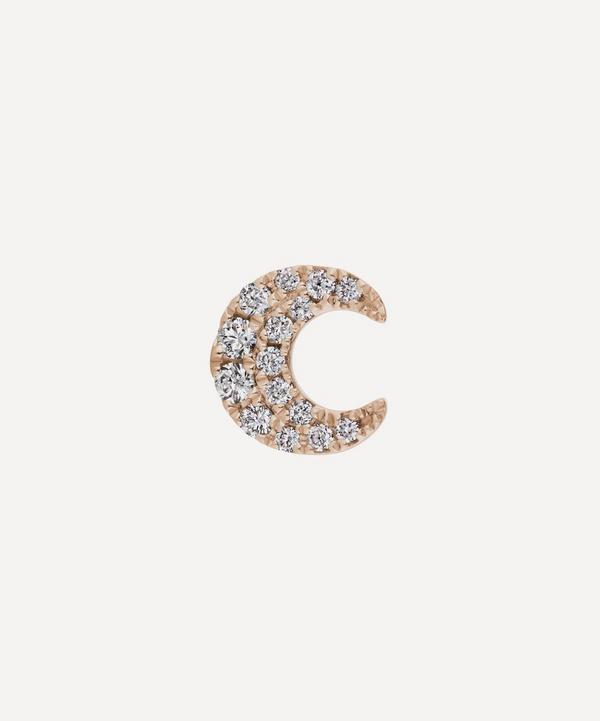 Maria Tash - Diamond Moon Threaded Stud Earring