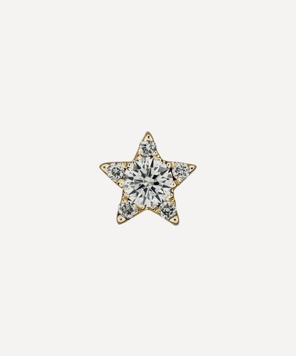 Maria Tash - 4.5mm Diamond Star Threaded Stud Earring