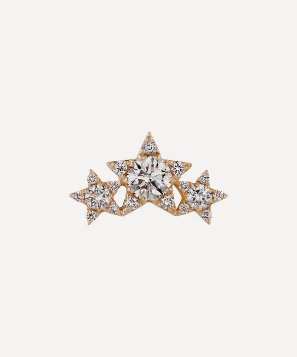 Maria Tash - Three Star Garland Diamond Threaded Stud Earring