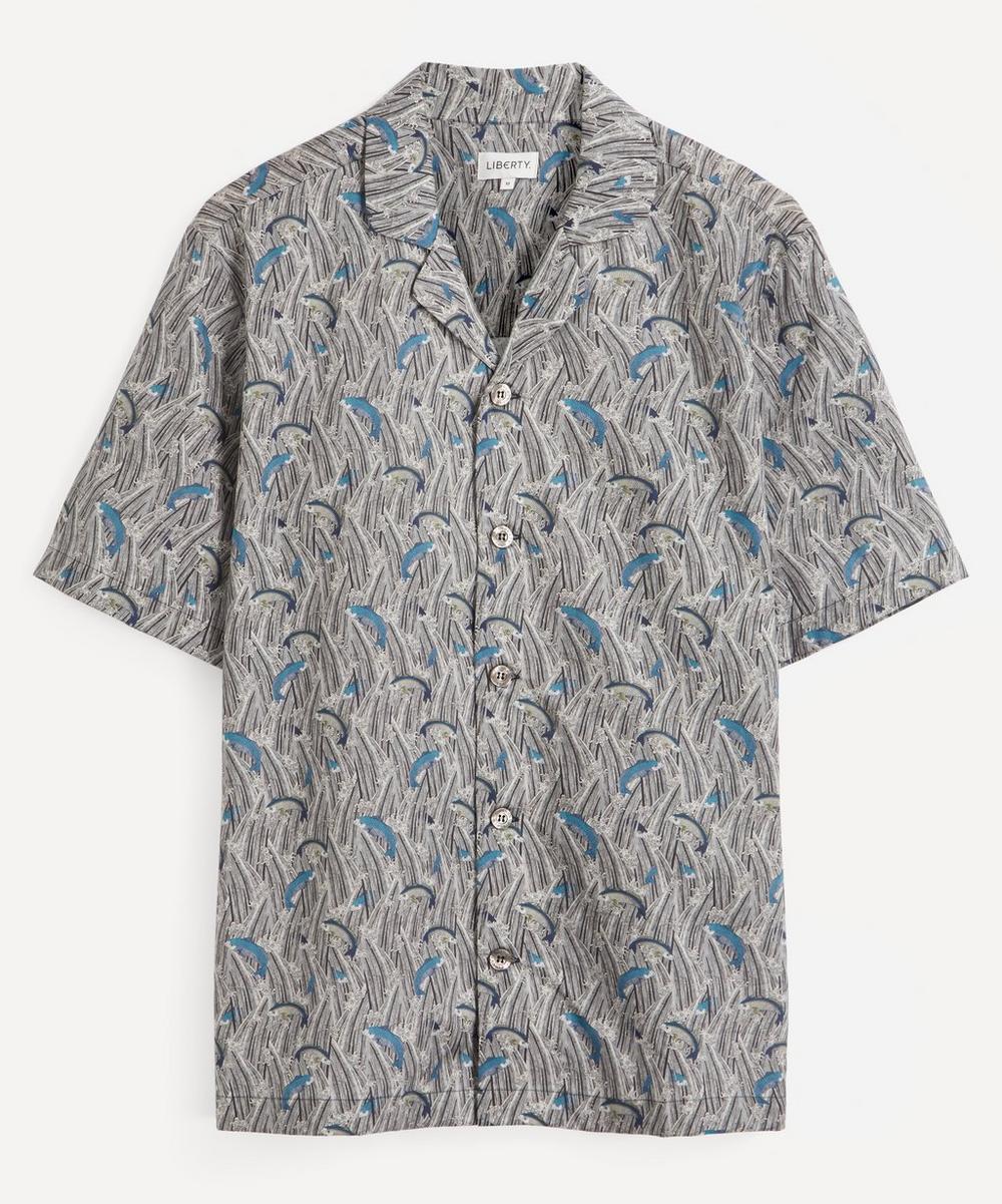 Liberty - Shiomi Tana Lawn™ Cotton Cuban Collar Casual Shirt