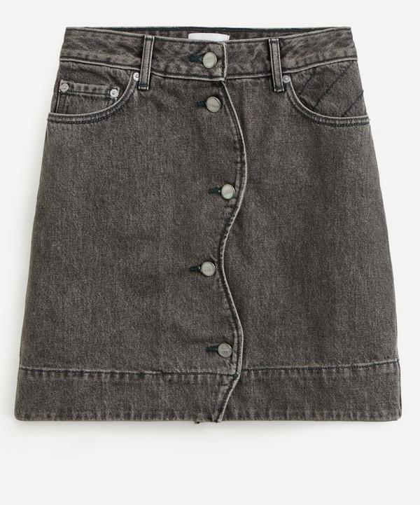 Ganni - Quilted Denim Mini-Skirt