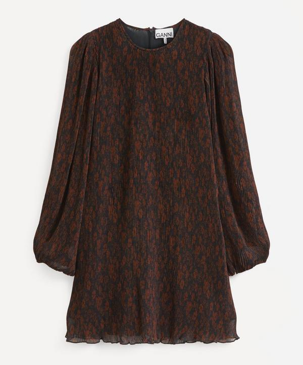 Ganni - Recycled Pleated Georgette Mini-Dress