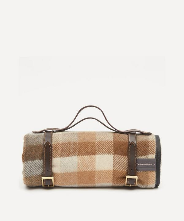 The Tartan Blanket Co. - Neutral Check Recycled Wool Picnic Blanket
