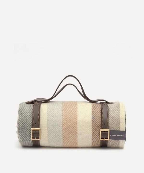 The Tartan Blanket Co. - Neutral Stripe Recycled Wool Picnic Blanket