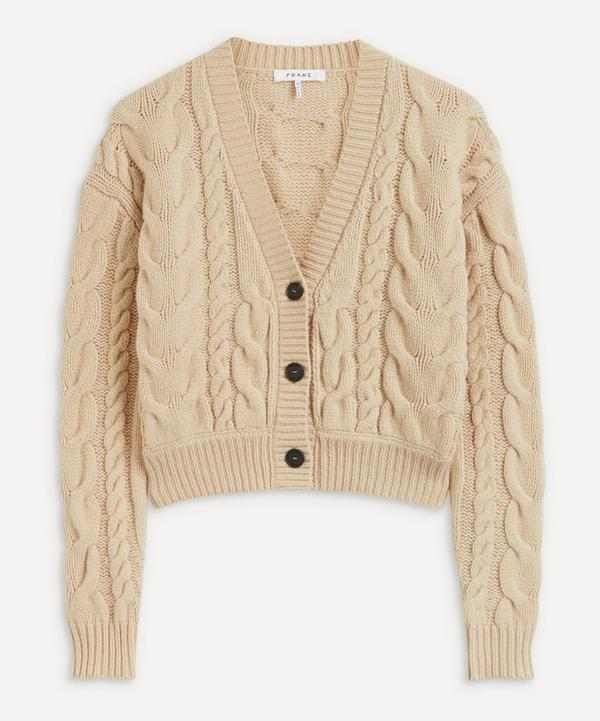 Frame - Cable-Knit Merino Wool Cardigan