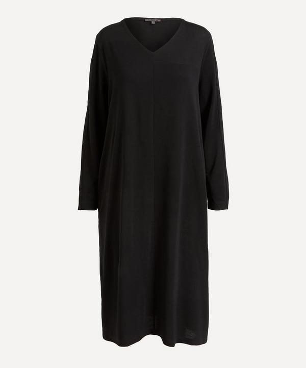Oska - V-Neck Long-Sleeve Dress